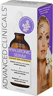 Advanced Clinicals Hyaluronic Acid Face Serum. Anti-aging Face Serum- Instant Skin Hydrator, Plump Fine Lines, Wrinkle Red...