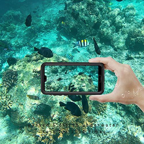 Lanhiem für Huawei P20 Pro Hülle, IP68 Zetrifiziert Wasserdicht Handy Hülle 360 Grad Schutzhülle, Stoßfest Staubdicht und Schneefest Outdoor Schutz mit Eingebautem Displayschutz - Schwarz - 3