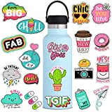 Cute Vsco Positive Stickers for Water Bottle[53pcs] Ins Pop Decals for Laptop Phone Tumbler Hydro Flask Car Computer Guitar Ceiling Wall Helmet Skateboard Luggage Bike Bumper Waterproof, Gift for Kids