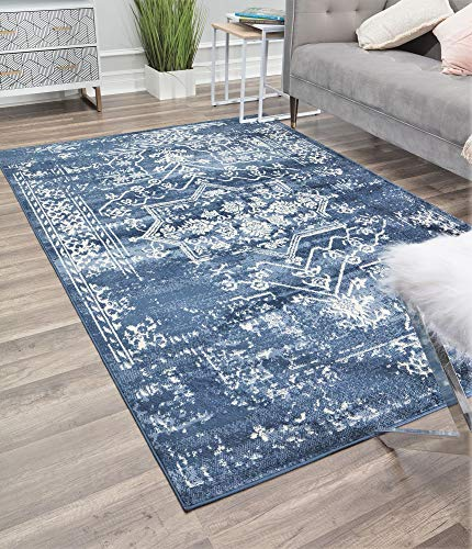 Rugs America Gallagher Collection GL35A Sea Salt Transitional Vintage Area Rug 2'6' x 4'