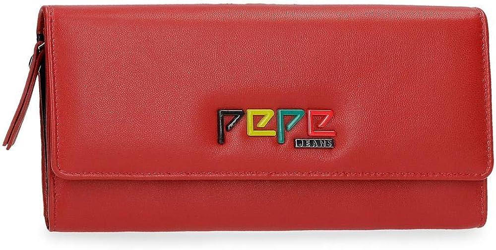 Pepe jeans,  porta carte di credito per donna, prtafoglio, in vera pelle 7693562