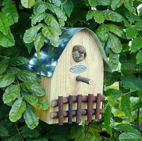 Buntes Vogelhaus Nistkasten Holz Natur 21cm - 2