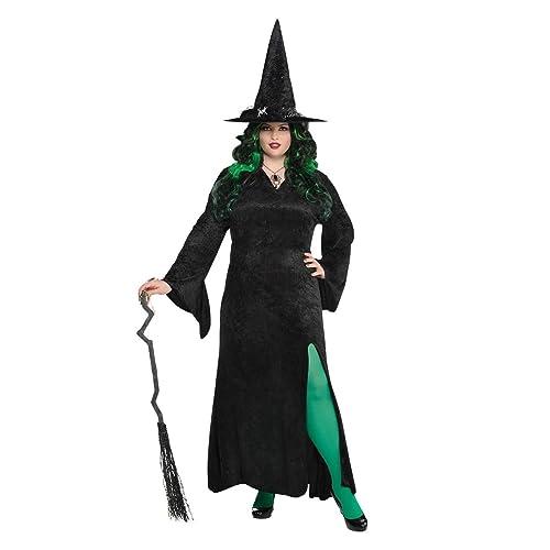 Spellbound Witch Adult Halloween Ladies Fancy Dress Up to XXL Costume