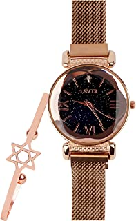 Luxury Women's Diamond Shining Starry Sky Magnetic Buckle Bangle Dress Watches