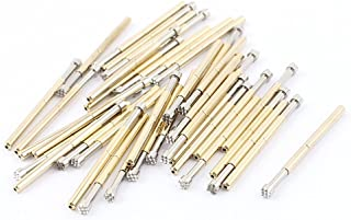 uxcell 40Pcs P125H 2.5mm Crown Tip Spring Test Probes Pins 33mm for PCB Borad