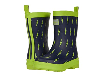Hatley Kids Lightning Bolts Matte Rain Boots (Toddler/Little Kid) (Blue) Boy