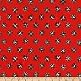 Marvel 0661216 Spider-Man Token Glow Red Fabric Stoff,