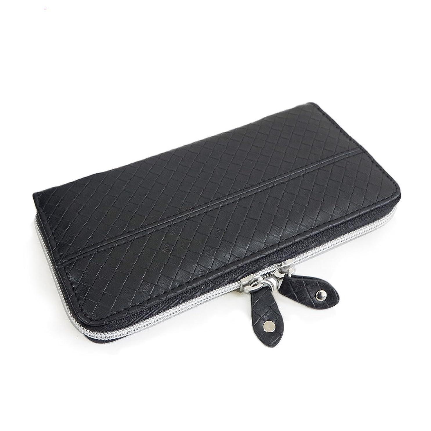 悪意インシュレータ相談財布 長財布 メンズ レディース ラウンド ウォレット ダブルファスナー 型押し キーズ Keys