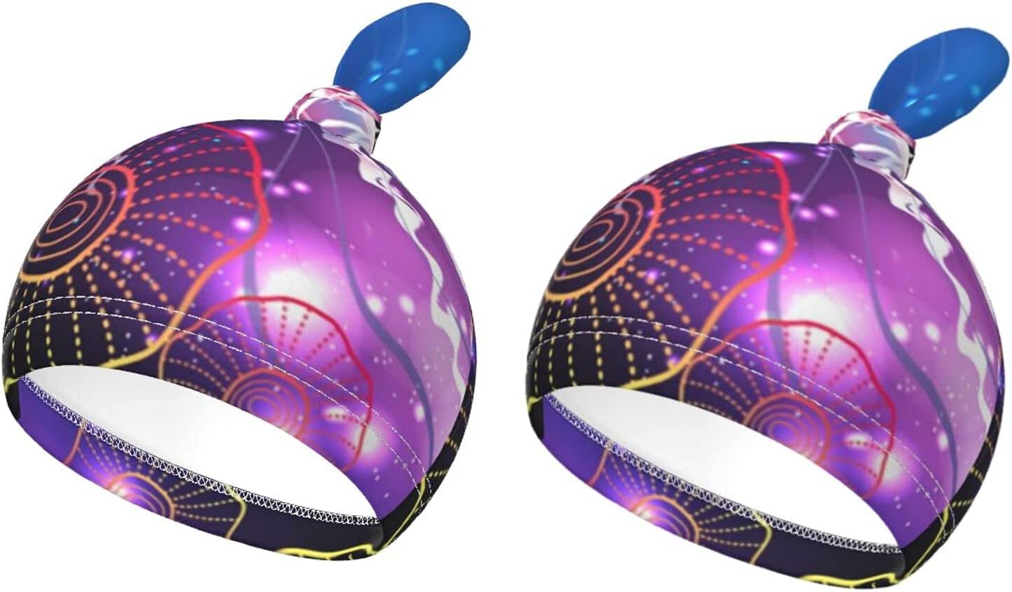 We OFFer at cheap prices Baby Beanie Caps New product type Glowing Vivid Top Jellyfishes Skinfriendly Knot