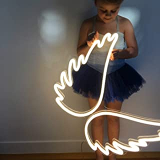 Angel Wing Lamp Neon Light Sign Wall Neon Light, LED Indoor Decor Night Lamps, Neon Light Sign Wedding Birthday Party Bedroom Table Gift Kids Toys Decor Decorations Valentines Christmas Gift