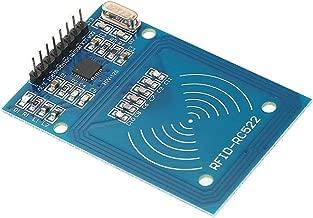 Módulo sensor,Baugger- RC522 Kit RFID RFID-RC522 Módulo sensor Tarjeta IC Módulo sensor S50 Tarjeta blanca Módulo de lectura RFID + Tarjeta inteligente RFID + Llaveros azules