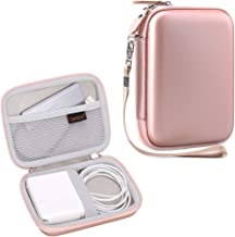 Canboc Shockproof Carrying Case Storage Travel Bag for MacBook Air Power Adapter, Also Good for USB C Hub, Type C Hub, USB Multi Ports Type c hub, Rose Gold