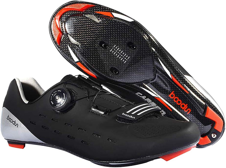 Walmeck- Professionel Rennradschuh Ultraleichtflugzeuge Carbon Rennrad Reitschuhe Sportlich Atmungsaktiv Road Fahrradschuhe Auto-Lock Fahrrad Schuhe