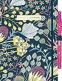 Bullet Journal 'Floral' mit original Tombow TwinTone Dual-Tip Marker 22 pink: Mit Punkteraster, Seiten für Index, Key und Future Log sowie Lesebändchen, Stiftehalter und praktischem Verschlussband