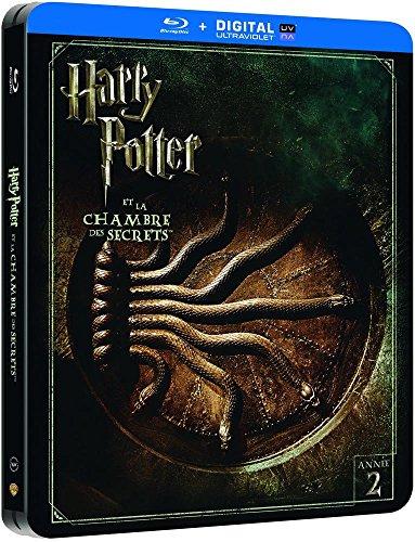 Harry Potter et la Chambre des Secrets - Edition limitée Steelbook - Année 2 - Le monde des Sorciers de J.K. Rowling - Blu-ray [Édition Limitée boîtier SteelBook]