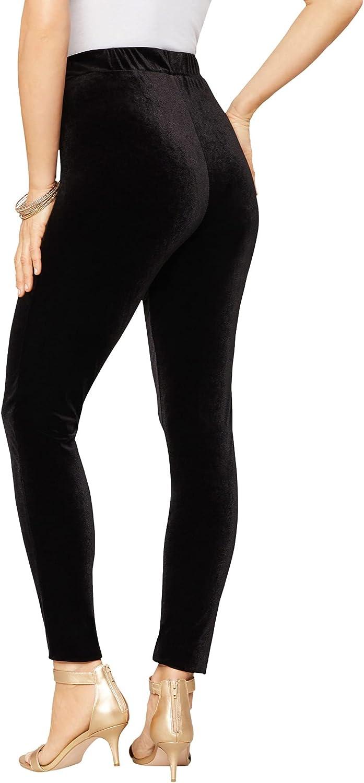 outlet Roamans Max 55% OFF Women's Plus Size Velour Legging Velvety Stretch Pants