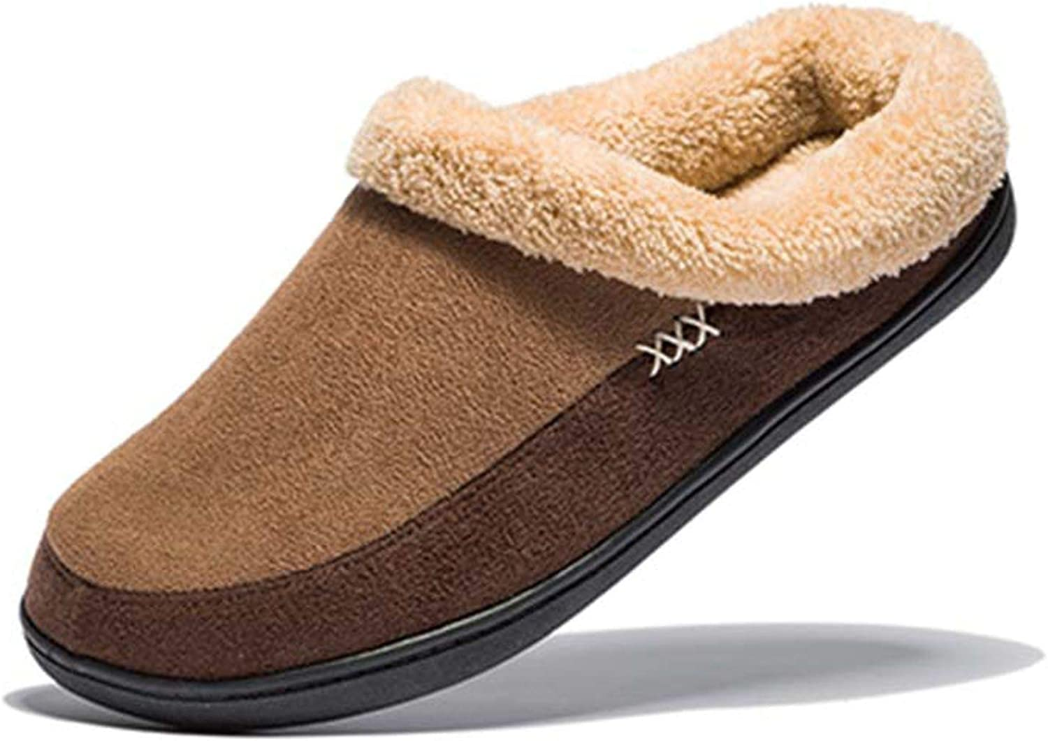 Brand Winter Home Thick Cotton Slippers Non-Slip Indoor Plush Flat Men's shoes