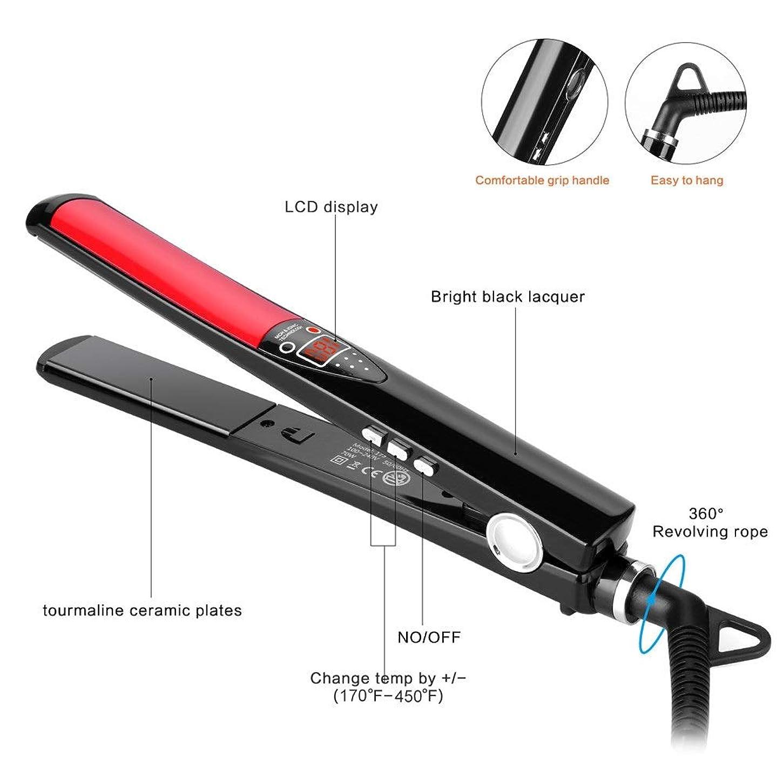 キャップ自分監督するストレートヘアスティック 貯蔵および旅行のためのデジタルLCD表示が付いている携帯用家のストレートナの二重電圧ストレートナ すべてのタイプの髪に適しています (色 : A, サイズ : Free size)