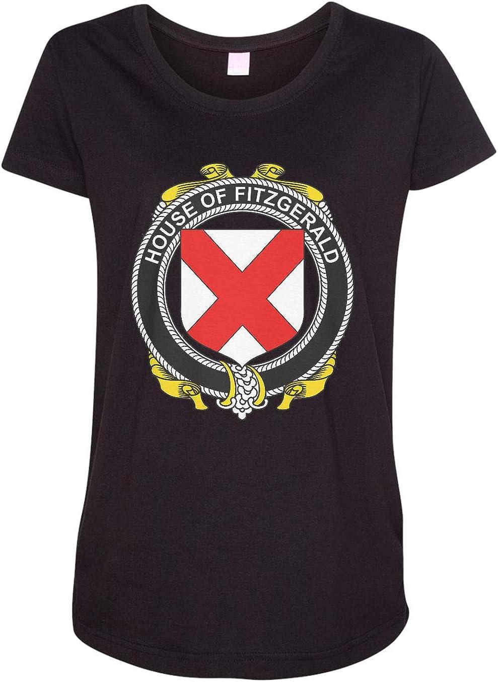 HARD EDGE DESIGN Women's Irish House Heraldry Fitzgerald T-Shirt