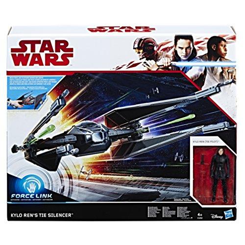 Star Wars - Kylo Ren (Pilota Tie) Personaggio con Veicolo Navicella Tie Silencer (Force Link), C1252eu4