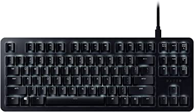 BlackWidow Lite Mechanical Tenkeyless Keyboard: Orange Key Switches - Tactile & Silent - White Individual Key Lighting - Compact Design - Detachable Cable - Matte Black
