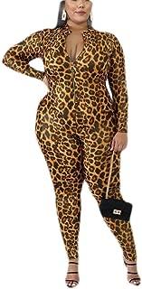 UUYUK Women Sexy Long Pants Long Sleeve Skinny Zipper Jumpsuit Romper