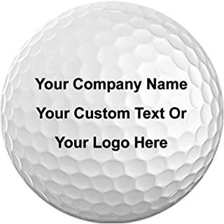 Pack of 12 Golf Balls 3D Color Printed with Your Personalized Photo, Text, or Logo for Company Gifts, Birthday, Christmas, Anniversary, Valentine's Day, Holiday, Just Because Presents