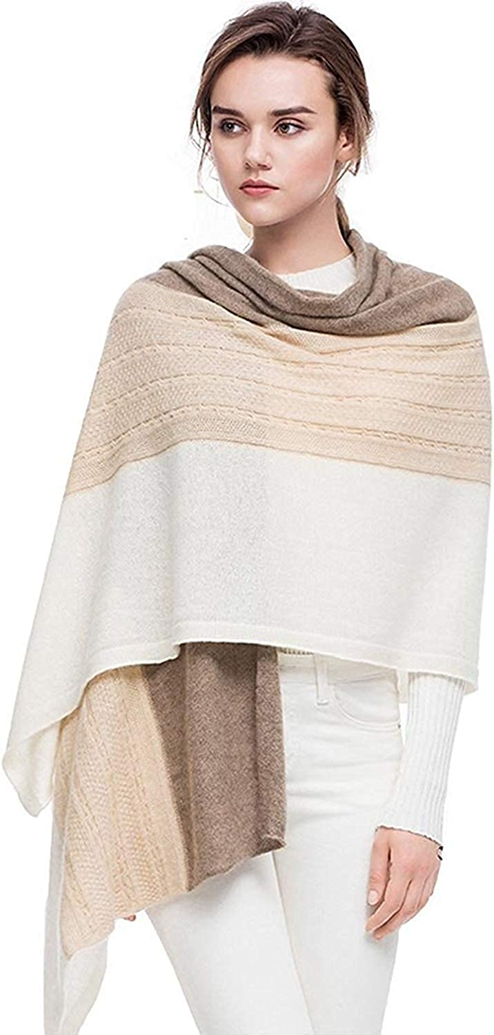 """women's 100% pure cashmere scarf Wrap Shawl Winter Extra Large(7830"""") cashmere Scarf contrast color"""