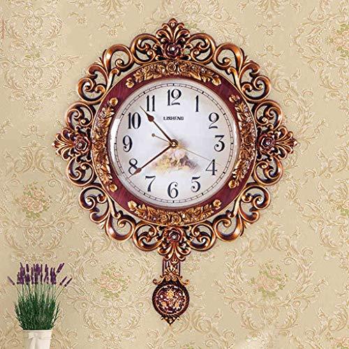 Europe Type Horloge murale salon silencieux est contemporain contracté caractère individuel stéréo calme décore usage domestique Vogue Quartz Horologique (Couleur : A)