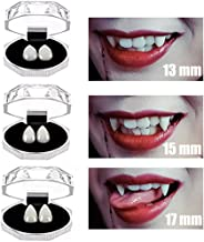 COOLJOY 3 Pairs Vampire Teeth Fangs with Adhesive Halloween Party Cosplay Props Horror Party Favors