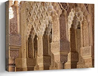 Wall Art Print Canvas Framed Artwork Home Decor(20×16 in)- Alhambra Spain Granada..