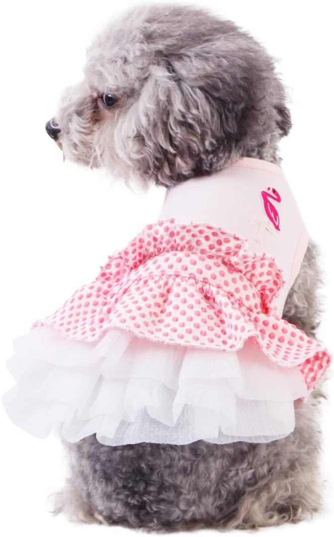 kyeese Deluxe NEW before selling ☆ Dog Dress Tiered Ruffle Me for Flamingo Dresses Small