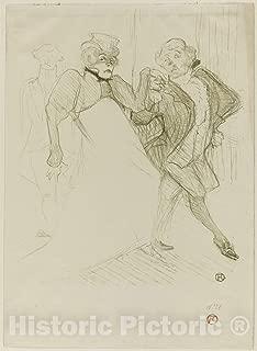 Historic Pictoric Print : Rejane and Galipaux, in Madame Sans-Gêne, Henri de Toulouse-Lautrec, c 1893, Vintage Wall Decor : 36in x 48in