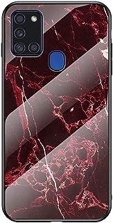 MadBee Funda para Samsung Galaxy A21S [con Protector de Pantalla],9H Cristal Templado [Mármol] [Resistente a los Arañazos]...