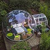 Tente Gonflable Extérieure de Bulle Tente de Camping Familiale à Tunnel Unique pour Enfants Adultes, Tente Transparente de Dôme de Maison pour Les Festivals D'arrière-cour de Patio, Avec Ventilateur