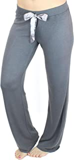 Ms Lovely Women's Ultra Soft Sleep Lounge Sweatpants with Satin Tie - Cute Comfy Baggy Pants