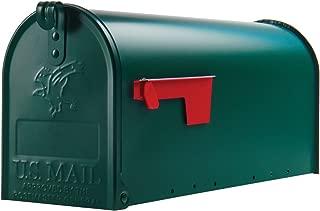 Gibraltar Mailboxes Elite Medium Capacity Galvanized Steel Green, Post-Mount Mailbox, E1100G00