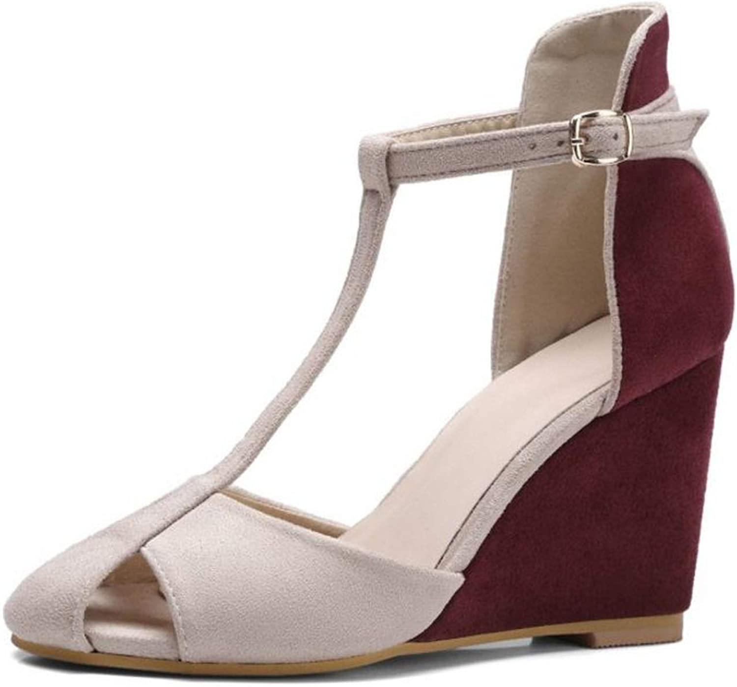 High Wedges Sandals Ankle Strap Hollow Out Wedges Sandals Summer Party shoes