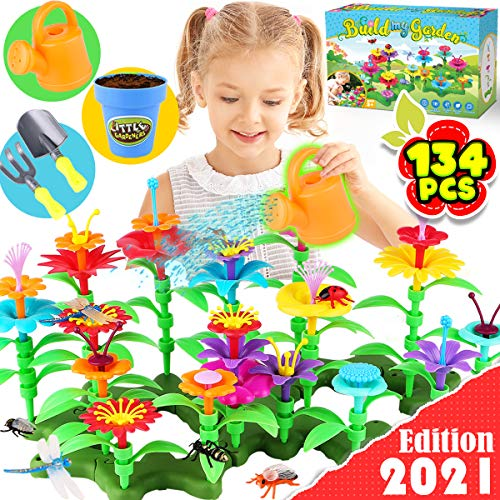 top toys for children in 2021 GoodyKing Flower Garden Building Toys for Girls - STEM Toy Gardening Pretend Gift for Kids - Stacking Game for Toddlers playset - Educational Activity for Preschool Child
