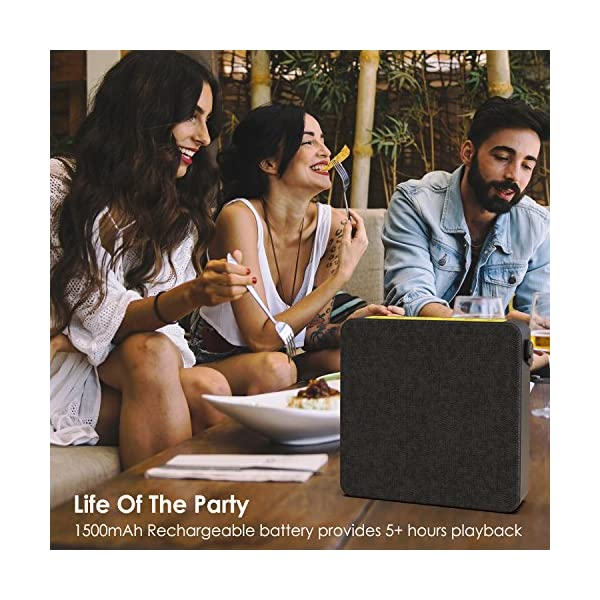 Portable Wireless Bluetooth Speaker, Loud & Powerful Dual HD Speakers W/Enhanced Bass, AUX Input, Rechargeable Hands Free Speakerphone W/Noise Cancellation Mic for iPhone/Android 6