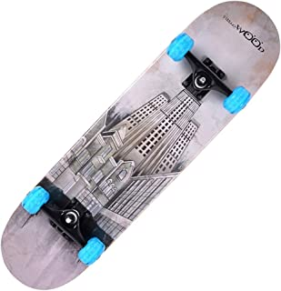 Skateboard Deck, Adults Kids Skateboard,Complete Board with ABEC-7 Bearing 9-Layer 92A Hard Maple Deck,31 x 7.5 lnches Load 150 kg for Beginners and Professionals