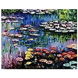 Legendarte - Cuadro Lienzo, Impresión Digital - El Estanque Con Nenúfares - Claude Monet - Decoració...