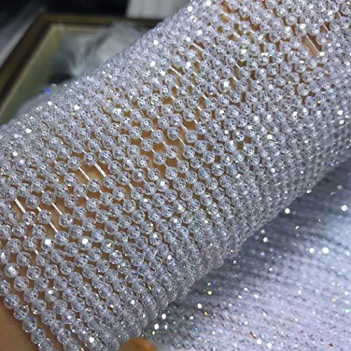 Piedra preciosa natural ICNWAY 2-4mm labradorita granate redonda suelta perlas facetadas de bricolaje pendientes del collar del brazalete de la fabricación de joyas ( Color : Zircon , Talla : 2mm )