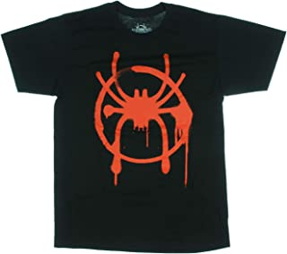 Spider-Man Men's Into The Spiderverse Miles Morales Logo Graphic T-Shirt
