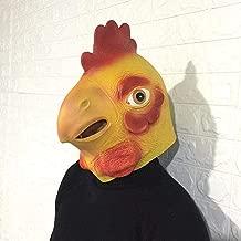 حب الحياة/Chicken you are too beautiful head cover chicken head mask animal headgear dance anime cartoon latex headwear durable