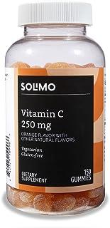 Amazon Brand - Solimo Vitamin C 250mg, 150 Gummies (2 Gummies per Serving)