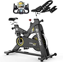 Commercial Use Exercise Bike Indoor Cycling Bike Stationary Bike-Belt Drive with 44LBS Flywheel