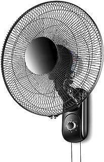 Deevin Ventilador de Pared Negro, Ventilador eléctrico silencioso, 16in / 60W, con función de Temporizador, Control Remoto, Ventilador de Pared Industrial con Cabeza sacudidora Industrial