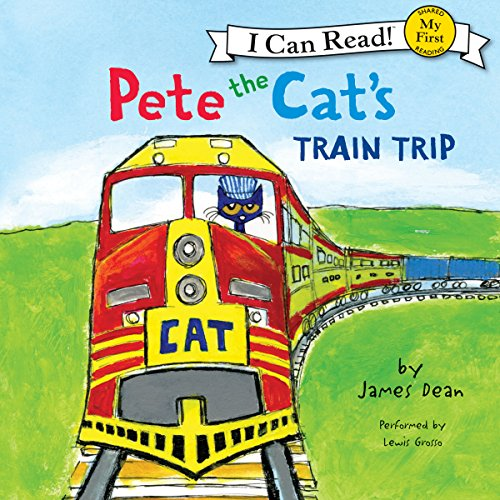 Pete the Cat's Train Trip audiobook cover art