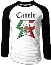 Men's Saul Alvarez Canelo Mexican Flag Long Sleeve Raglan Shirts Summer Casual